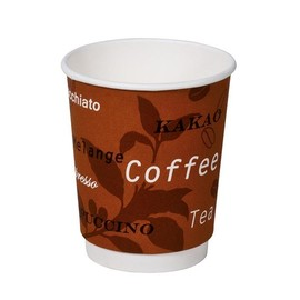 Coffee to go Becher Neutraldruck doppelwandig 0,2l (PACK=35 STÜCK) Produktbild