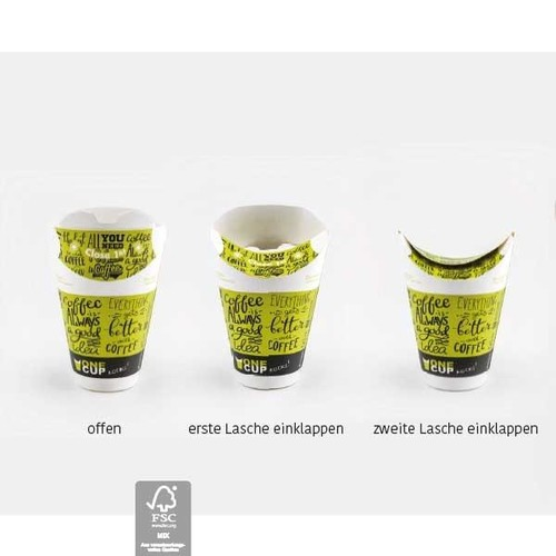 One Cup Single Wall M 0,3l Neutralmotiv grün (PACK=40 STÜCK) Produktbild Additional View 1 L