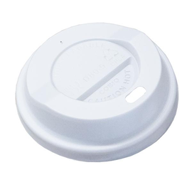 CPLA Deckel für Coffee to go Becher 80mm / weiß (KTN=1000 STÜCK) Produktbild