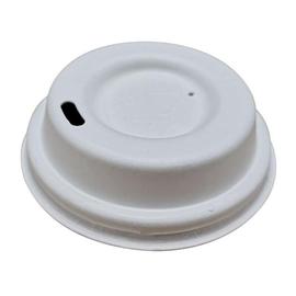 Bio Fiber Deckel für Coffee to go Becher / 80mm / weiß / Huhtamaki S01080 (PACK=60 STÜCK) Produktbild