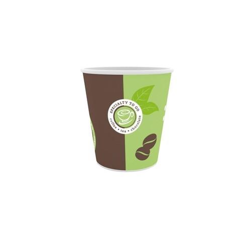 Coffee to go Becher Espresso Neutraldruck 0,1l (PACK=50 STÜCK) Produktbild Front View L