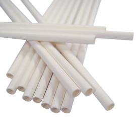 Trinkhalme Papier / Ø6mm / 200mm / weiß (PACK=250 STÜCK) Produktbild