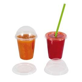 Clear Cup Flachdeckel mit Kreuzschlitz Ø95mm glasklar Apet (PACK=50 STÜCK) Produktbild