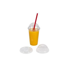 Smoothie Cup Domdeckel mit Loch Ø95mm für 300/400/500/600ml (PACK=100 STÜCK) Produktbild