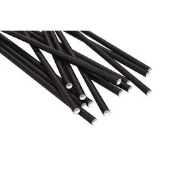 Trinkhalme Papier / Ø6mm / 200mm / schwarz (PACK=250 STÜCK) Produktbild
