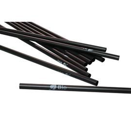 Trinkhalme PLA / Ø8mm / 250mm / schwarz / Druck Bio (PACK=150 STÜCK) Produktbild