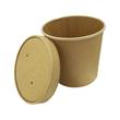 Pappe Suppenbecher Ø118mm Höhe 108mm 750ml PLA-Beschichtung braun (PACK=25 STÜCK) Produktbild