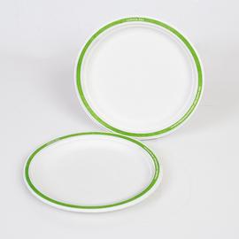 Menüteller Chinet Ø24cm Design LOGISCH ÖKO weiß (PACK=100 STÜCK) Produktbild