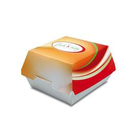 Burger-Box Fresh & Tasty klein 108/89x108/90x70mm (PACK=500 STÜCK) Produktbild