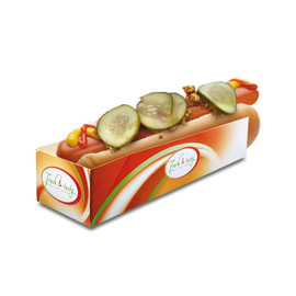 Hot Dog Tray Fresh & Tasty 200x50x40mm (PACK=500 STÜCK) Produktbild
