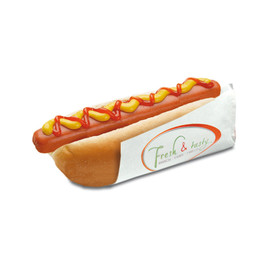 Hot Dog Beutel Fresh & Tasty 80x210mm (PACK=2000 STÜCK) Produktbild