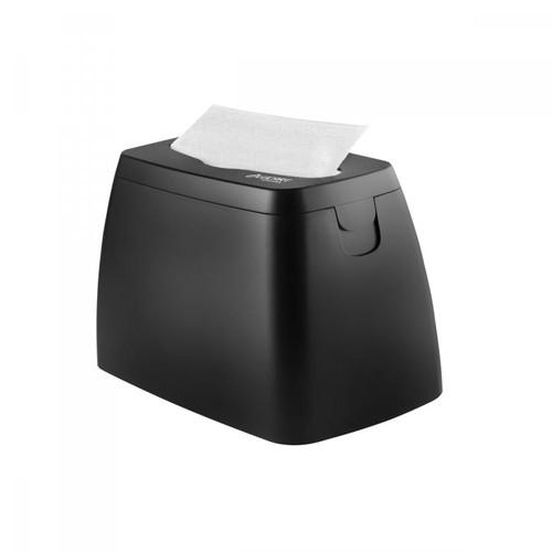Serviettenspender L-One S-Table für 225 Servietten / schwarz / Kunststoff / Lucart Produktbild Front View L