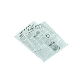 """Einschlagpapier """"Newsprint"""" 27x35cm / 35-40g / weiß / fettdicht / Pergamentersatz (KTN=1000 STÜCK) Produktbild"""