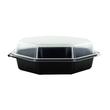 PS Salatschalen mit Klappdeckel  Octaview 118x118x60mm / 200ml / schwarz-transparent / Duni 866013 (PACK=375 STÜCK) Produktbild Additional View 2 S
