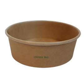 Salatschale braun Kraft / Logisch öko PLA-Beschichtung / 500ml / Ø150mm / 50mm Biologisch abbaubar (KTN=300 STÜCK) Produktbild