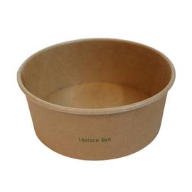 Salatschale braun Kraft / Logisch öko PLA-Beschichtung / 750ml / Ø150mm / 60mm Biologisch abbaubar (KTN=300 STÜCK) Produktbild