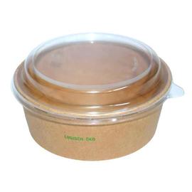 Salatschale braun Kraft / Logisch öko PLA-Beschichtung / 1300ml / Ø185mm /70mm Biologisch abbaubar (KTN=300 STÜCK) Produktbild