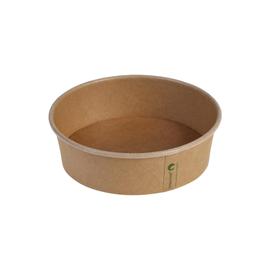 Salatschale rund 480ml Ø150x45mm / braun / PLA-beschichtet (KTN=300 STÜCK) Produktbild