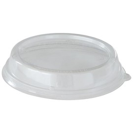 rPET Deckel für Bagasse Salatschalen rund Ø201x27mm 800-1200ml transparent (PACK=40 STÜCK) Produktbild