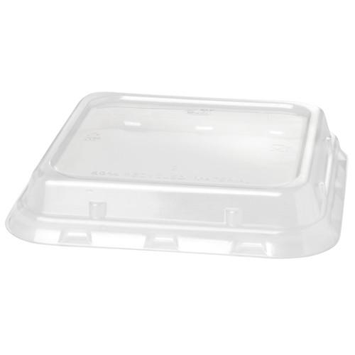 rPET Deckel für Bagasse Boxen ecoecho quadratisch 900ml 156x156x44mm / transparent / Duni 188062 (PACK=40 STÜCK) Produktbild Front View L