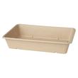 Bagasse Boxen ecoecho rechteckig 230x155x46mm / 1200ml / nature / Duni 177010 (PACK=40 STÜCK) Produktbild