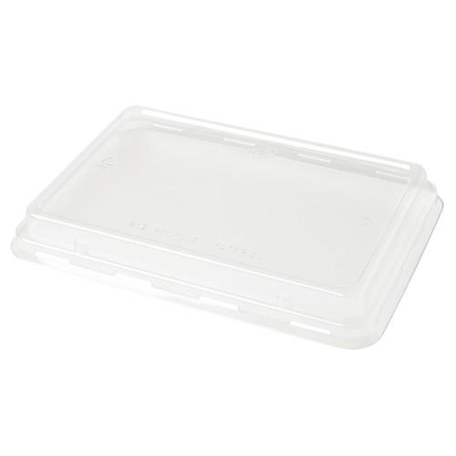 rPET Deckel für Bagasse Boxen ecoecho rechteckig 850-1200ml  239x165x28mm / transparent / Duni 188063 (PACK=40 STÜCK) Produktbild Front View L
