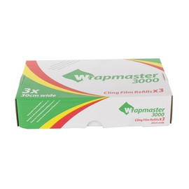 PVC Frischhaltefolie 30cmx300m Wrapmaster (KTN=3 ROLLEN) Produktbild