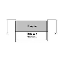 Drahtbügeltasche DIN A5 Querformat mit Klappe Produktbild