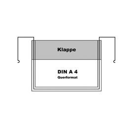 Drahtbügeltasche DIN A4 Querformat mit Klappe Produktbild