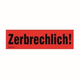 "PE Warnetikett Typ W5 140x40mm mit Druck ""Zerbrechlich"" (1Rll=1000St) (RLL=1000 STÜCK) Produktbild"