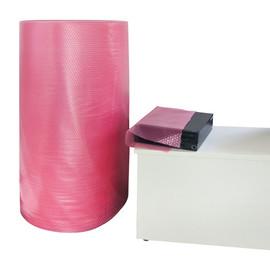 LDPE Luftpolsterfolie antistatisch rosa / 50cm x 100m / 100µ / 2-lagig (RLL=100 METER) Produktbild