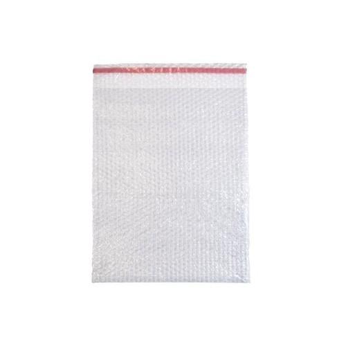 LDPE Luftpolsterbeutel transparent 350 x 450 + 50mm Klappe / 80µ / 3-lagig mit Selbstklebeverschluss (KTN=150 STÜCK) Produktbild Additional View 1 L