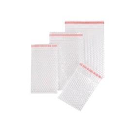 LDPE Luftpolsterbeutel transparent 100 x 165 + 50mm Klappe / 80µ / 3-lagig mit Selbstklebeverschluss (KTN=1200 STÜCK) Produktbild