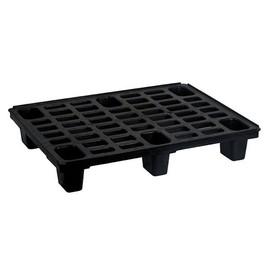 HDPE Palette schwarz 60 x 80cm / mit Sicherungrand / 6 Füße Produktbild