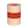 "Etikett mit Warndruck leuchtrot 150 x 50mm / ""Nicht stapelbar"" 1-farbig schwarz bedruckt (RLL=1000 STÜCK) Produktbild Additional View 1 S"