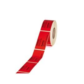 """Etikett leuchrot mit Warndruck 145 x 70mm / """"Hochempfindliche Elekt..."""" (RLL=1000 STÜCK) Produktbild"""