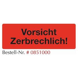 """Warnetiketten """"Vorsicht Zerbrechlich!"""" 145x50mm / fluor-rot (RLL=500 STÜCK) Produktbild"""