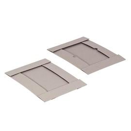 Graupappe Aufrichteschachtel zweiteilig grau / DIN A4 / 305 x 215 x 50/50mm 600g/m² / FEFCO 0304 Produktbild