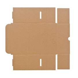 Wellpappe Stanzverpackung braun 160 x 83 x 68mm / 1.20B / zum Krempeln Produktbild