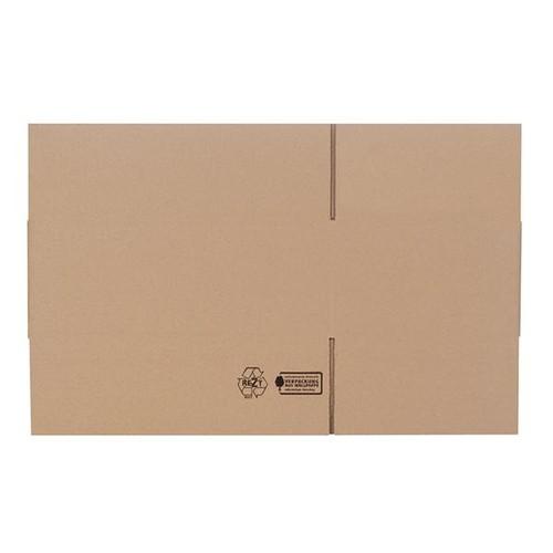 Wellpappe Faltkarton braun 400 x 250 x 150mm / 1.20C / FEFCO 0201 Produktbild Additional View 1 L