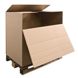 Wellpappe Containerkarton braun 1180 x 780 x 1070mm / 2.40 BC für Europalette / 1m³ Produktbild