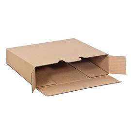 Wellpappe Versandverpackung für Ordner DIN A4 320x290x80/65mm Qualität 1.20 braun Produktbild