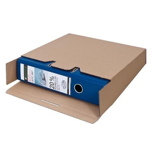 Wellpappe Versandverpackung braun für Ordner DIN A4 / 320 x 290 x 80/65mm Produktbild Additional View 3 L