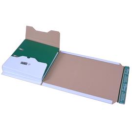 Wellpappe Versandverpackung für Ordner DIN A4 320x290x-80mm weiß Produktbild