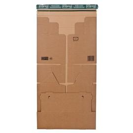 Wellpappe Versandverpackung für zwei Ordner DIN A4 328x290x120mm braun mit Haftklebung Produktbild