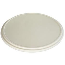 Bagasse Deckel für Pizzabox ecoecho Ø363x19mm / nature (PACK=55 STÜCK) Produktbild