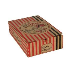 Pizzakarton Neutraldruck Modell Calzone 27x17x7cm braun (PACK=100 STÜCK) Produktbild