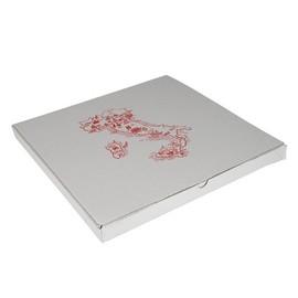 Pizzakarton Neutraldruck Modell Taglio Kraft 40x40x3cm weiß (PACK=100 STÜCK) Produktbild