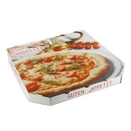 Pizzakarton Neutraldruck Modell Treviso Kraft 30x30x3cm (PACK=200 STÜCK) Produktbild