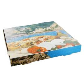 Pizzakarton Neutraldruck Modell NYC Kraft 36x36x4,2cm blau (PACK=100 STÜCK) Produktbild